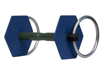 Mors à anneaux gamme classique vue de 3/4 I-Bride Medium flex -