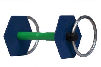 Mors à anneaux gamme classique vue de 3/4 I-Bride Medium flex +